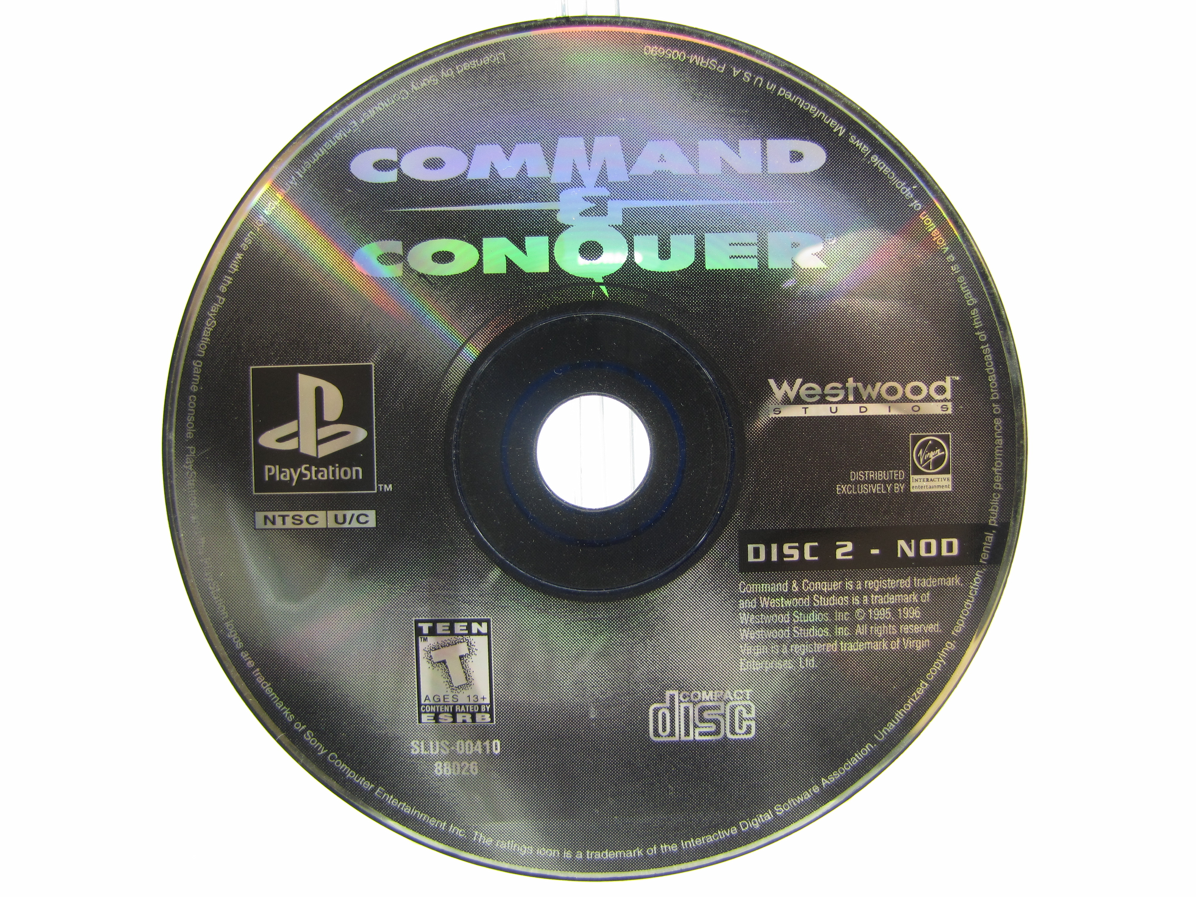 PS1 Command & Conquer Disc 2 Disc Only - 1995