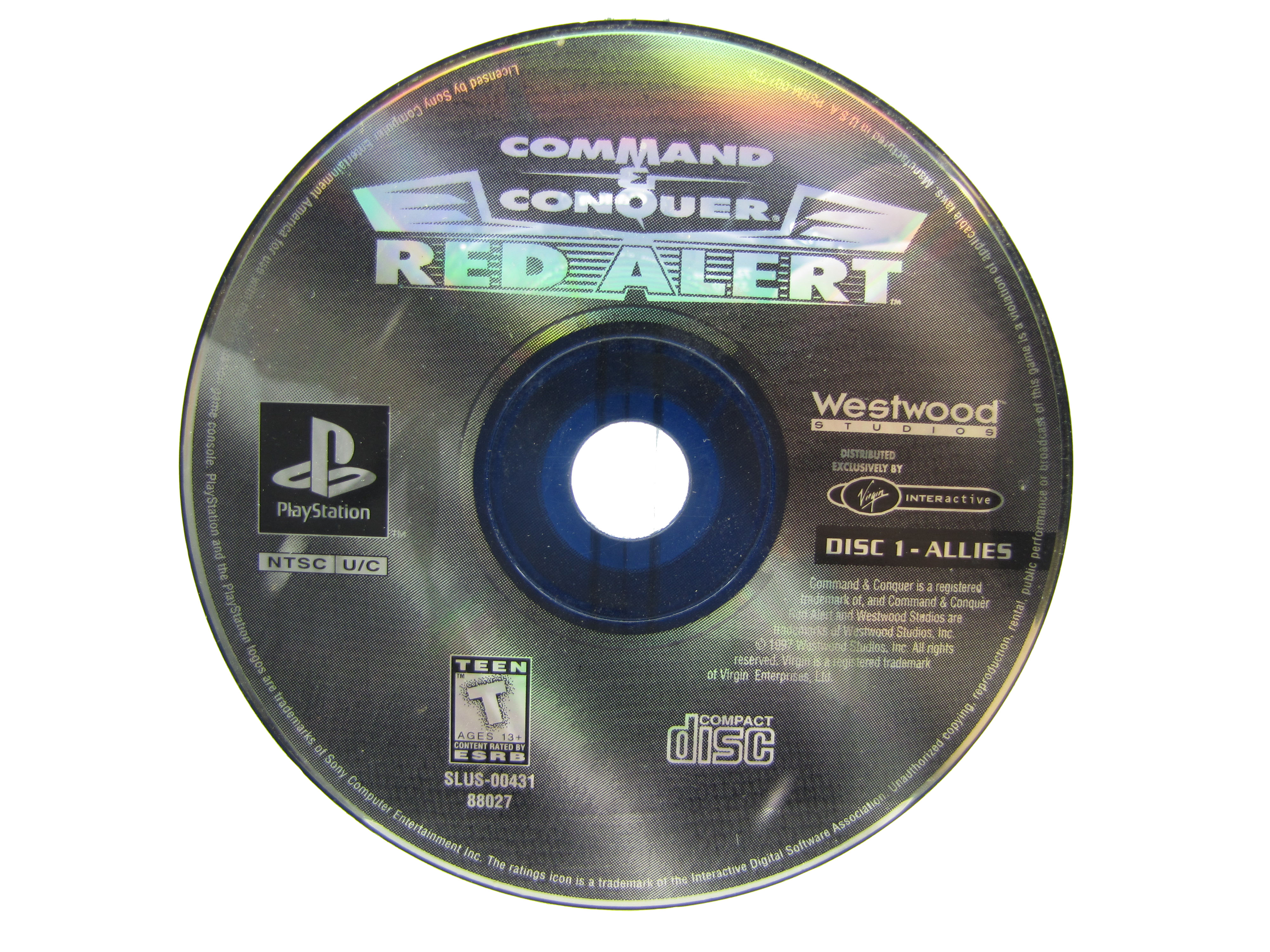 PS1 Command & Conquer: Red Alert Disc 1 Allies Disc Only - 1997