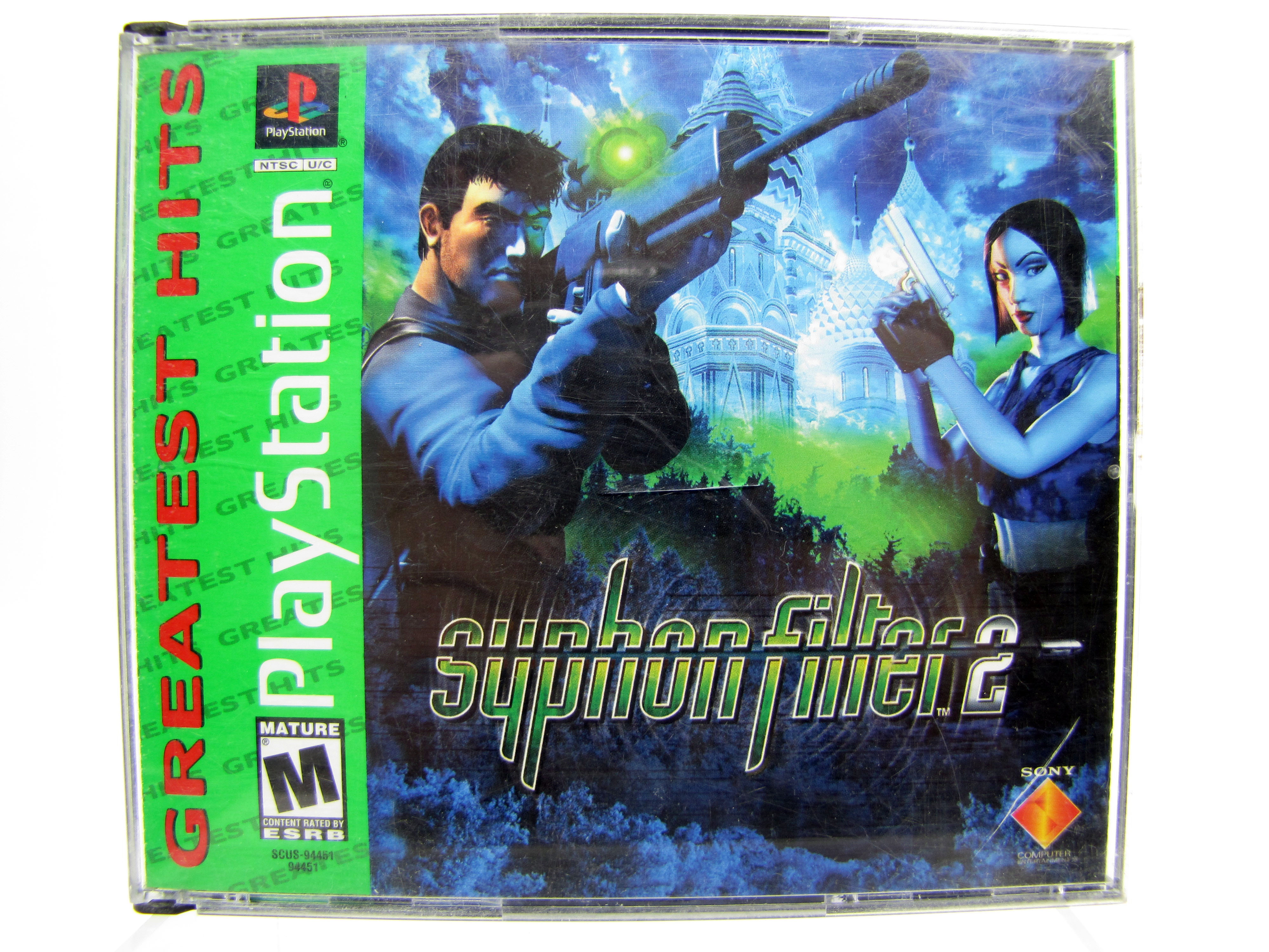 PS1 Syphon Filter 2 Greatest Hits Complete - 2000