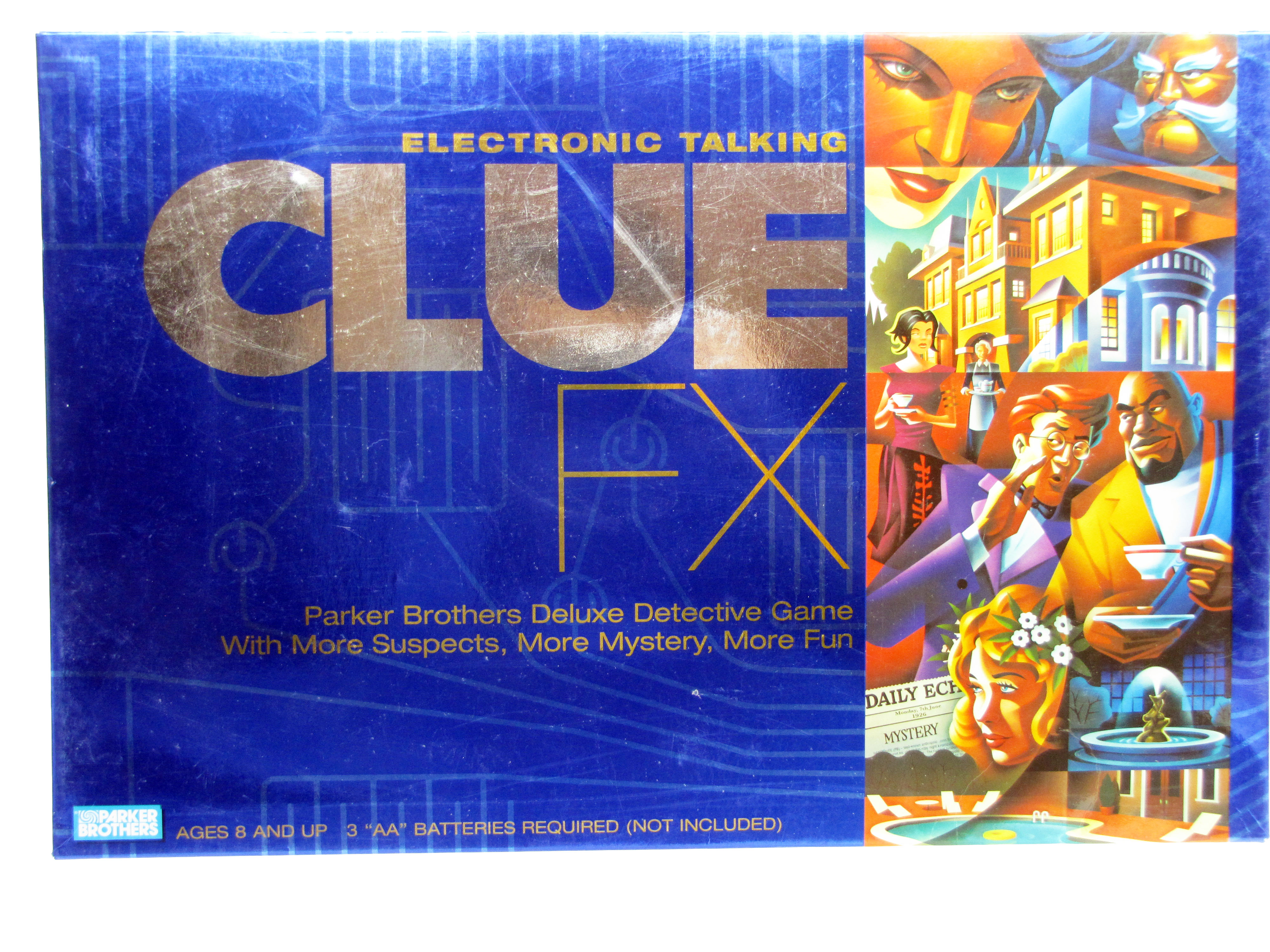 2003 Parker Brothers Clue FX Electronic Talking Game Complete