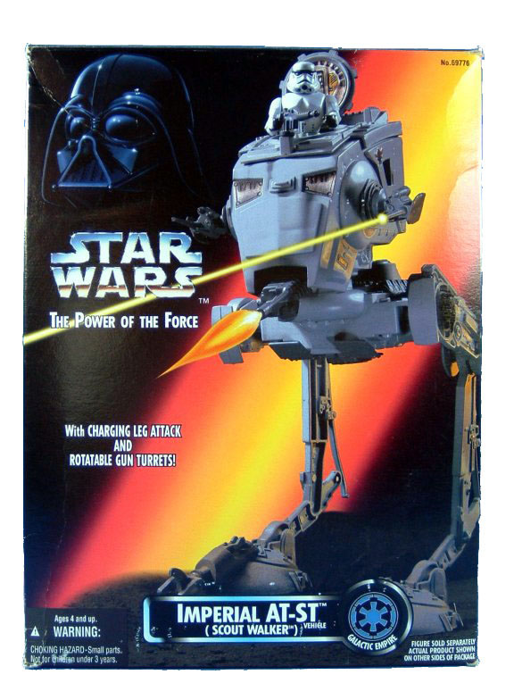 1995 Star Wars POTF2 IMPERIAL AT-ST SCOUT WALKER Sealed