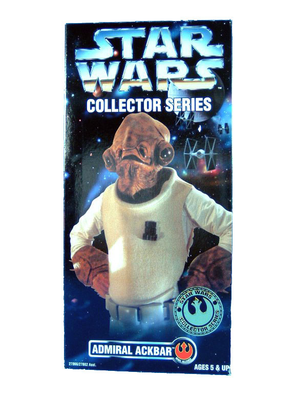 "1997 Star Wars Saga 12"" ADMIRAL ACKBAR Sealed"