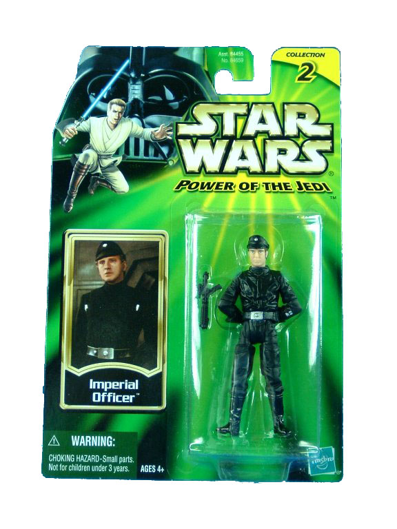 2001 Star Wars Power of the Jedi IMPERIAL OFFICER Sealed MOC