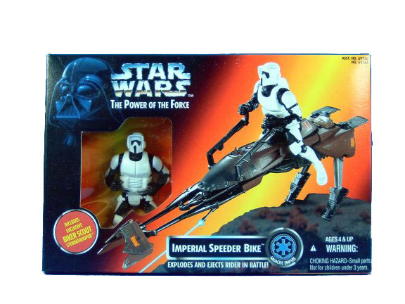 1995 Star Wars POTF2 IMPERIAL SPEEDER BIKE Sealed