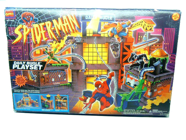 Spider-Man Animated Series Daily Bugle Playset Complete Mint in
