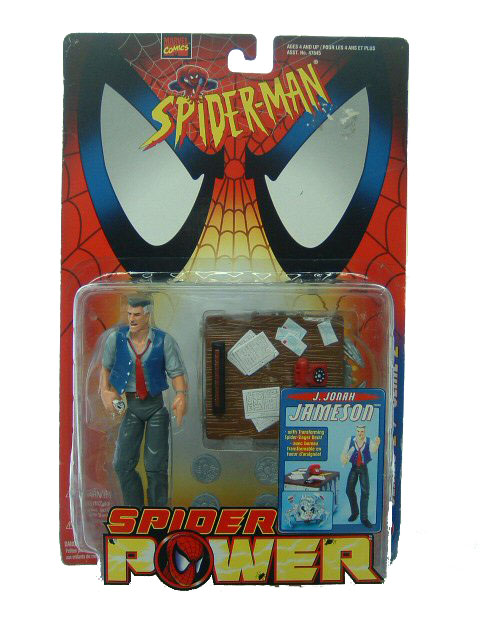 Spider-Man Animated Series Spider Power J Jonah Jameson Sealed