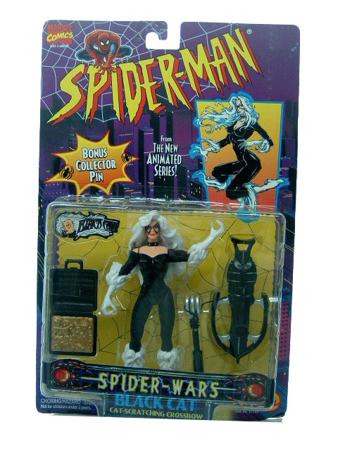 Spider-Man Animated Series Spider Wars Black Cat Sealed