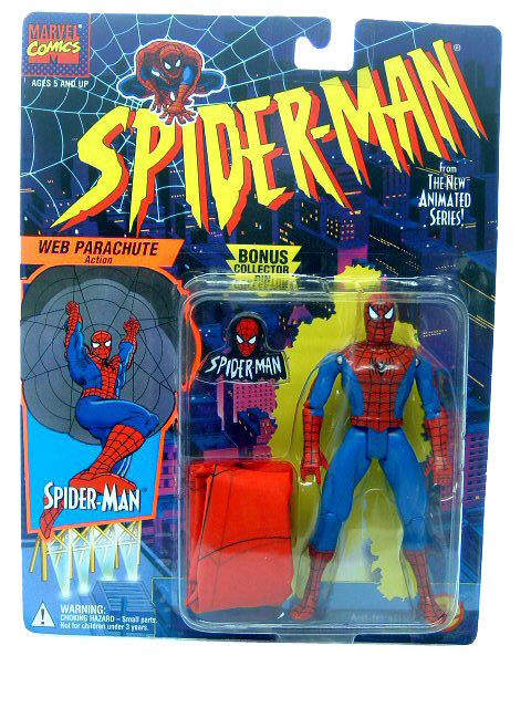 Spider-Man Animated Series Spider-Man Parachute Sealed