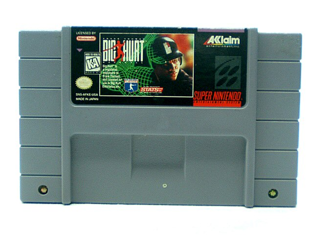 SNES Frank Thomas Big Hurt Baseball - 1995