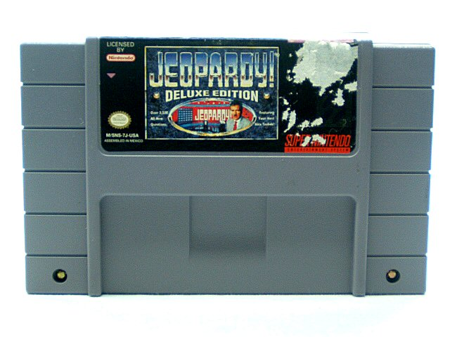SNES Jeopardy! Deluxe Edition - 1993