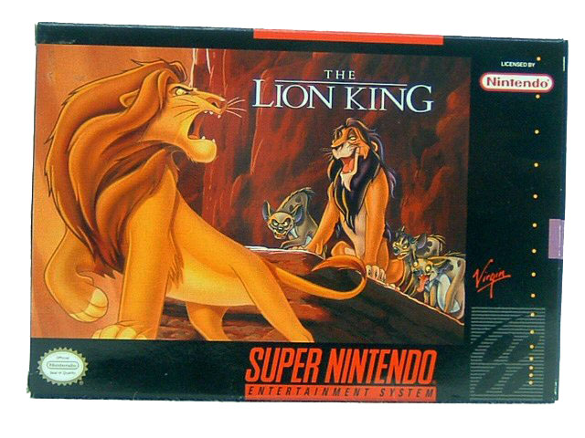 SNES The Lion King Complete in Box - 1994