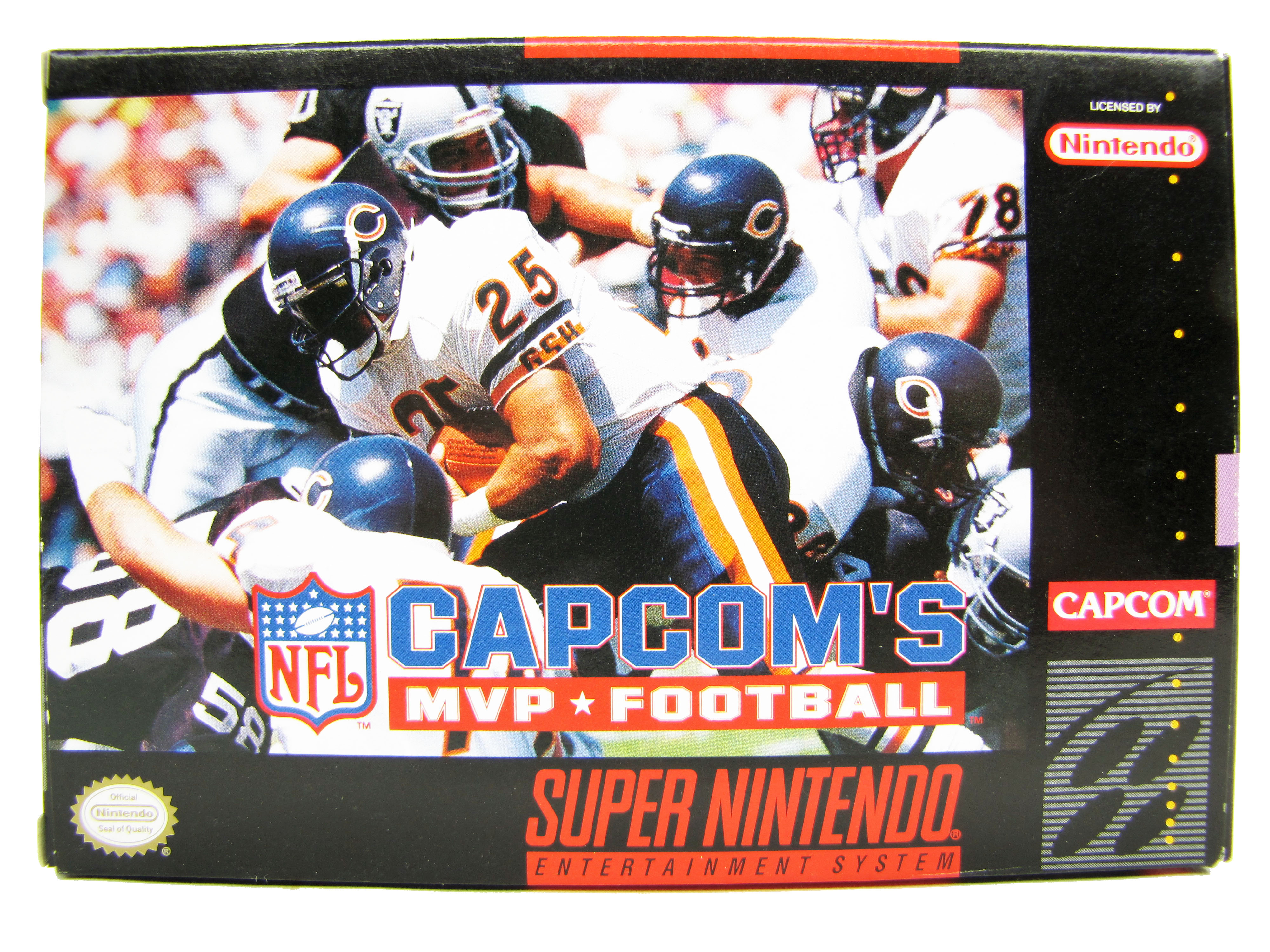 SNES Capcom's MVP Football Complete in Box - 1992