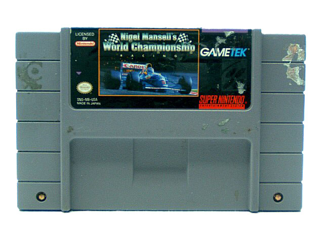 SNES Nigel Mansell's World Championship Racing - 1991