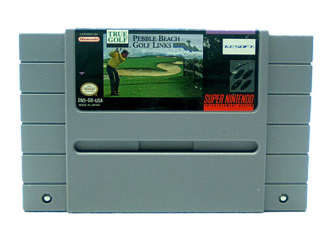 SNES True Golf Classics: Pebble Beach Golf Links - 1992