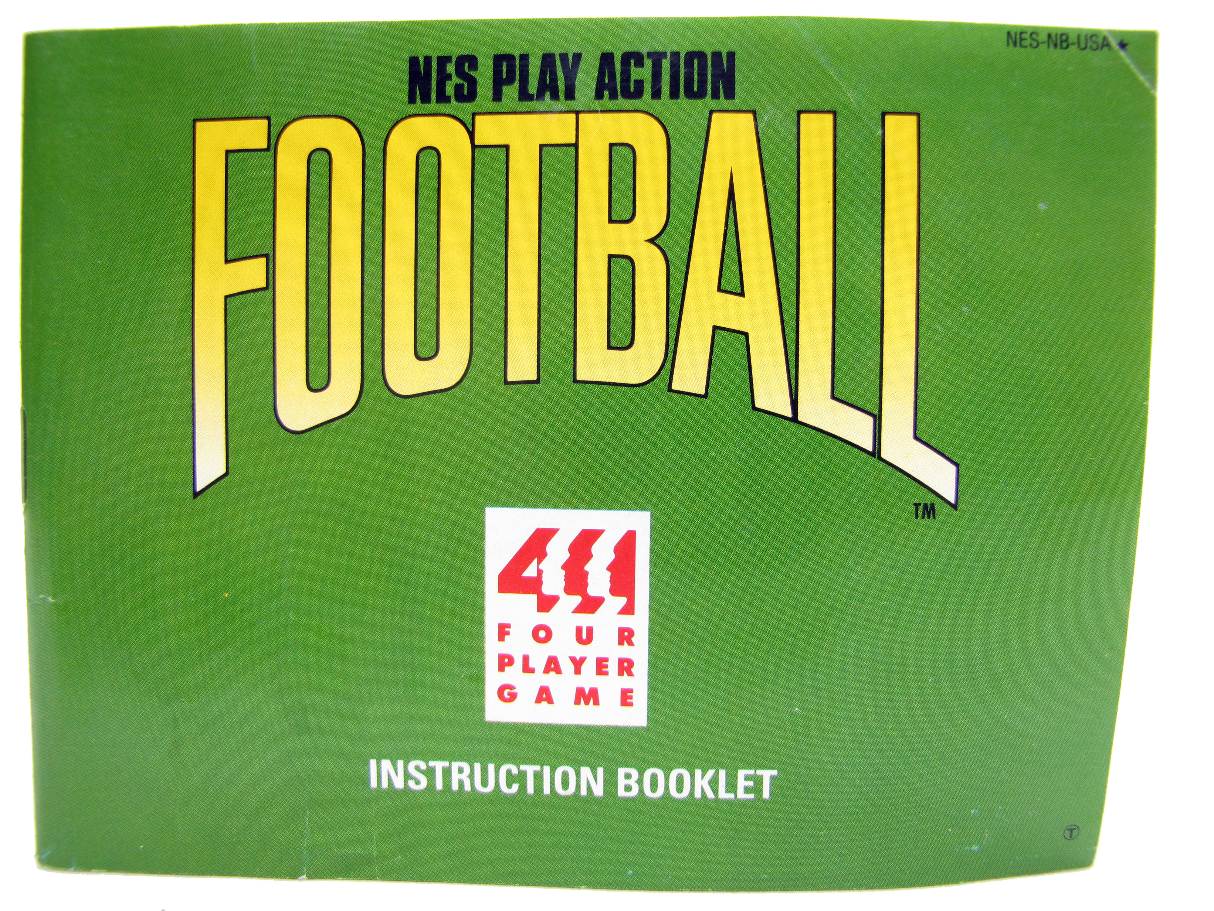 SNES Super Play Action Football Instruction Booklet - 1992