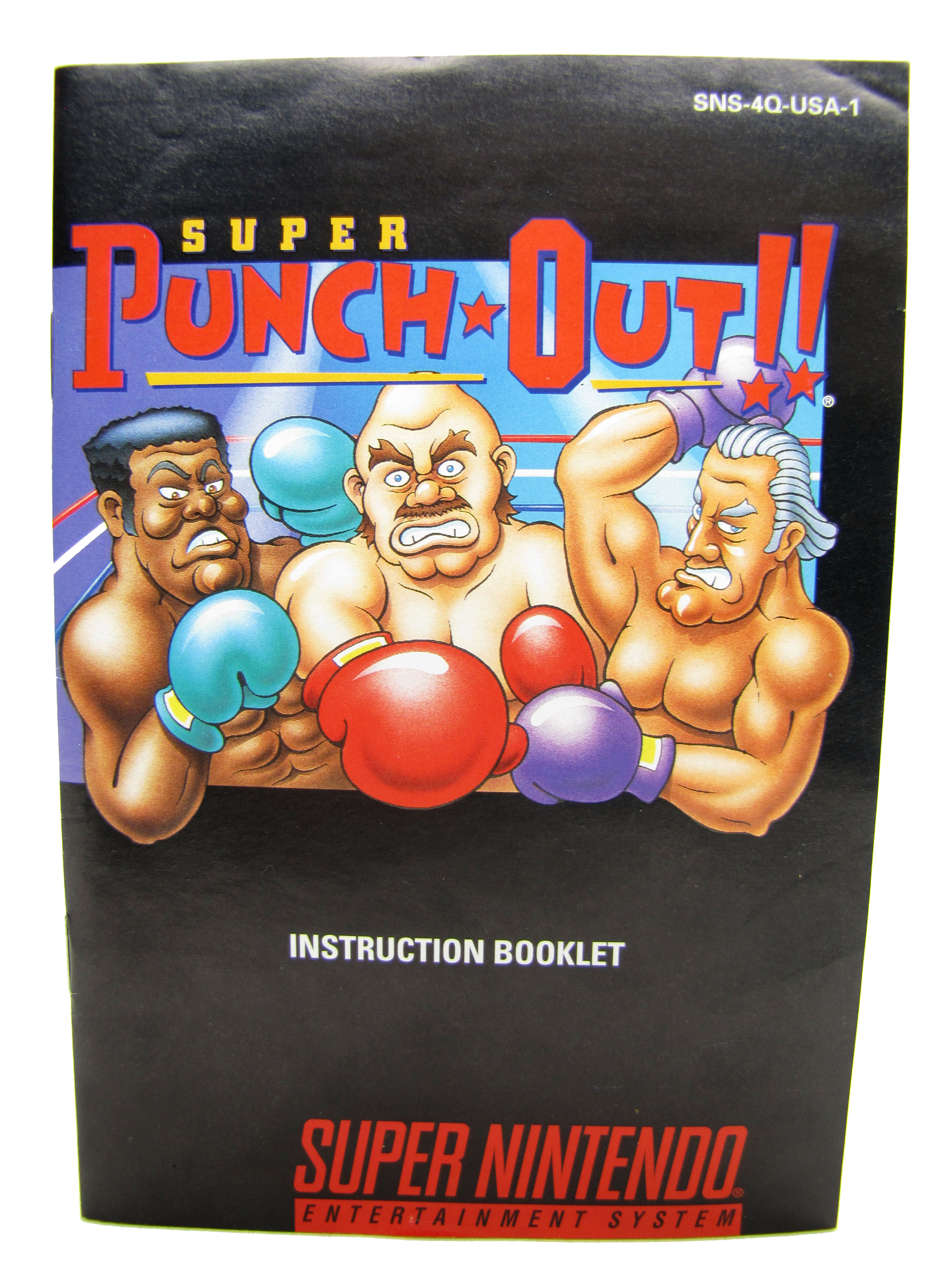 SNES Super Punch Out!! Instruction Booklet - 1994