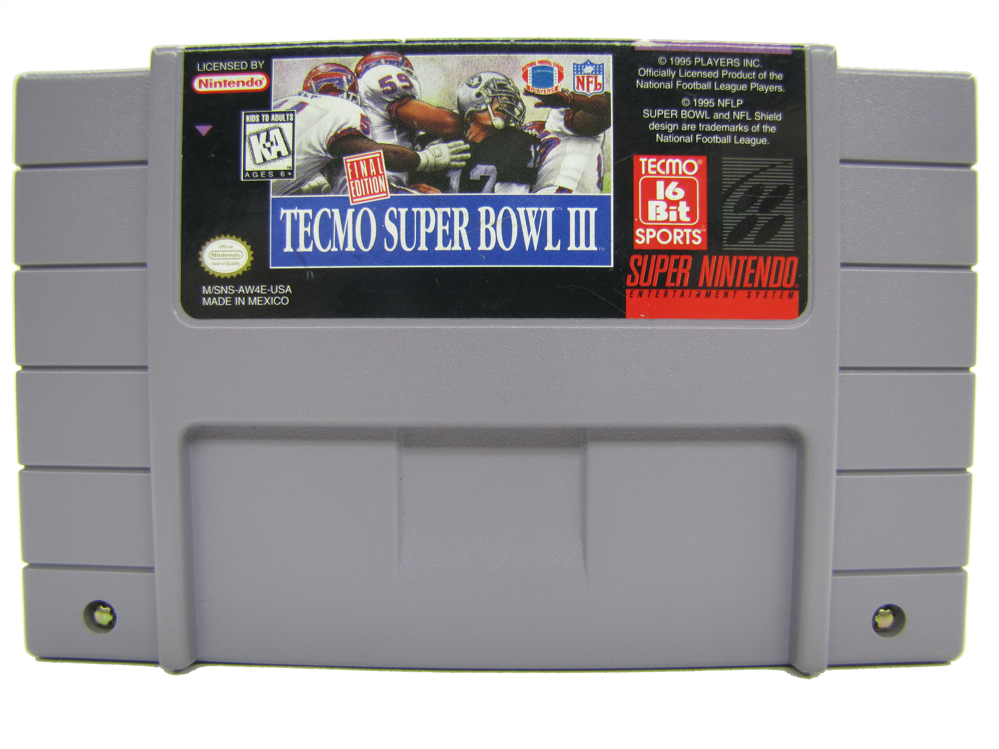 SNES Tecmo Super Bowl III: Final Edition - 1995