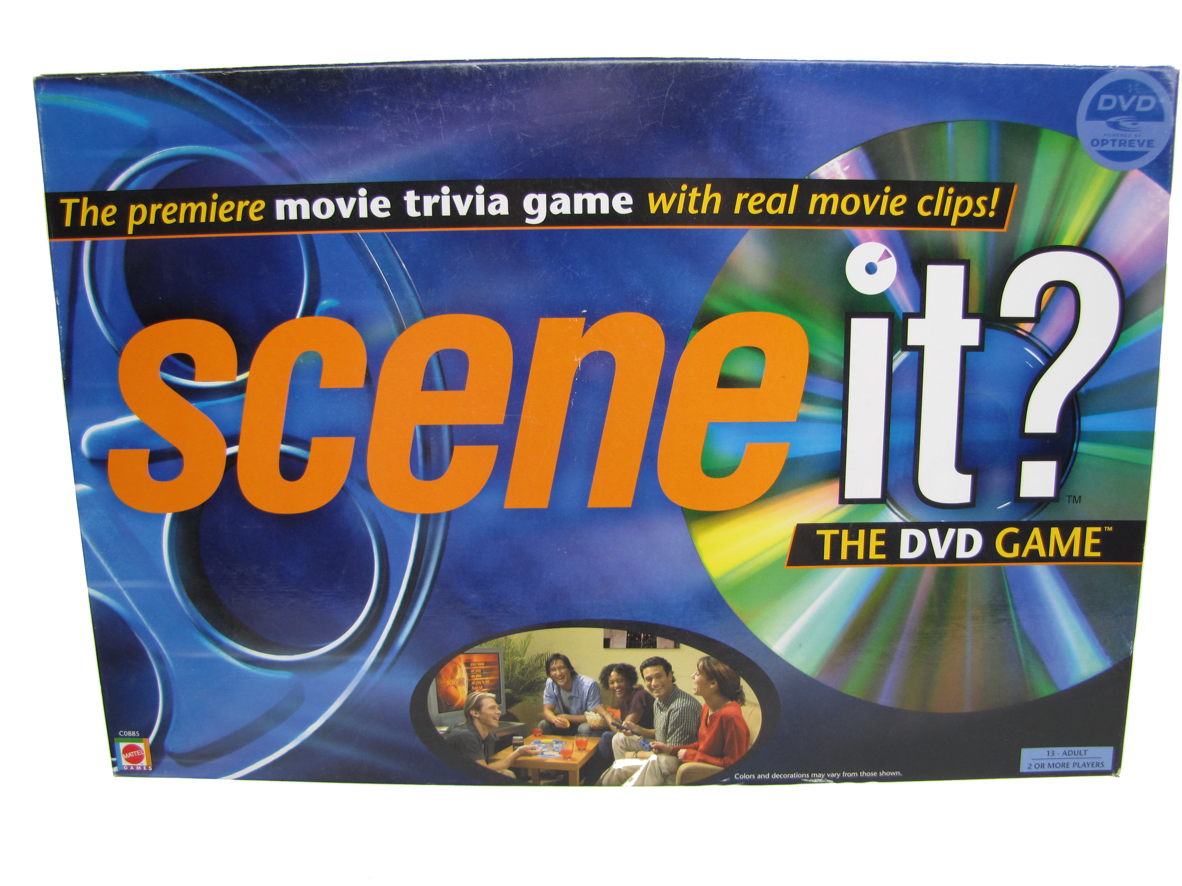 2002 Parker Brother Scene It? Movie Board Game Complete