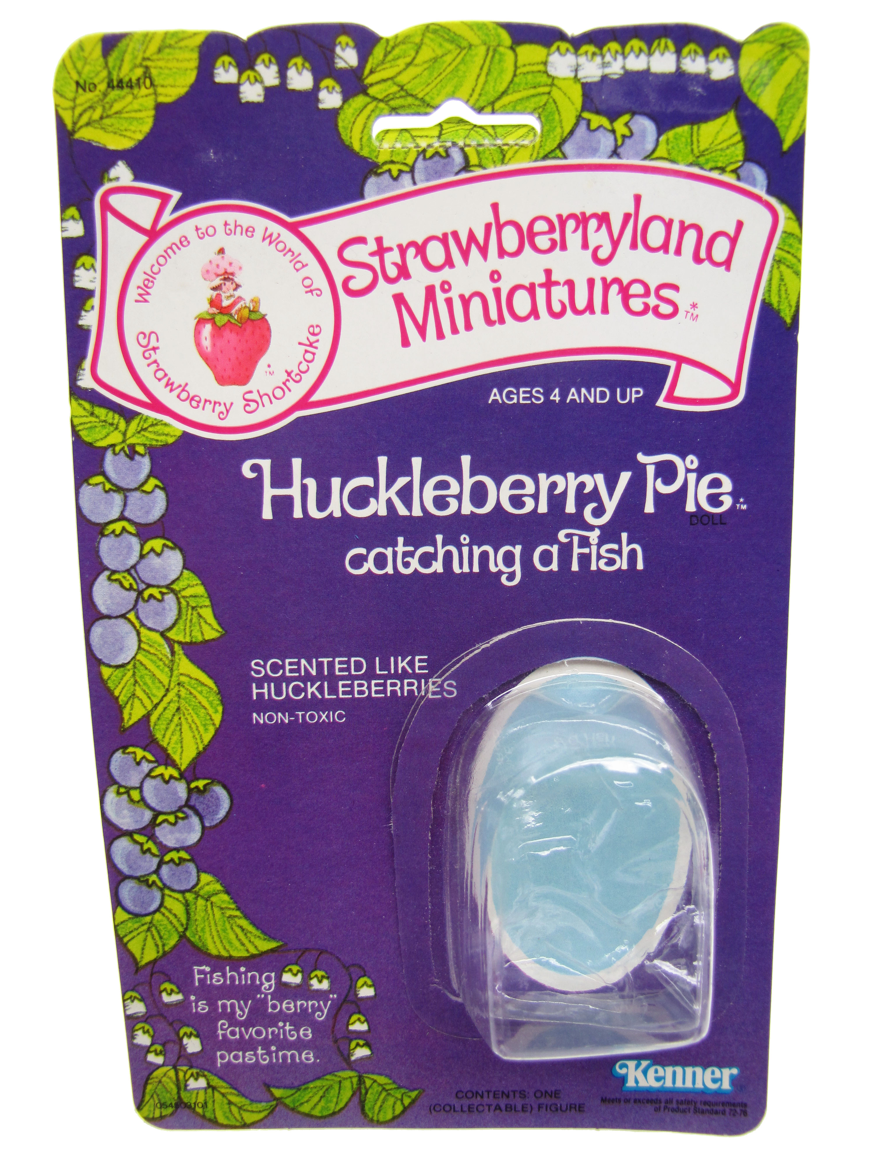Strawberryland Miniatures Huckleberry Pie Catching a Fish Card