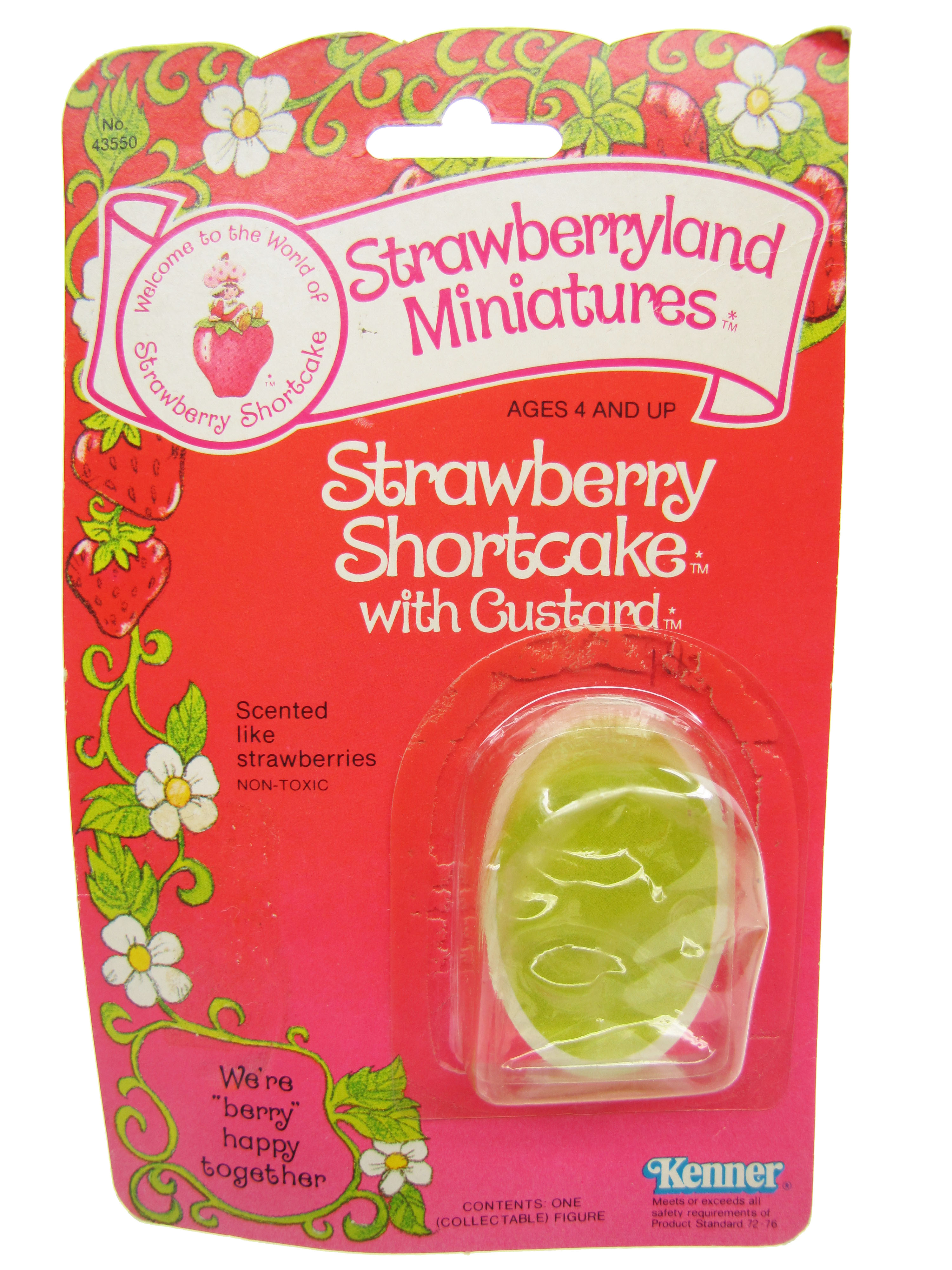 Strawberryland Miniatures Strawberry Shortcake with Custard Card