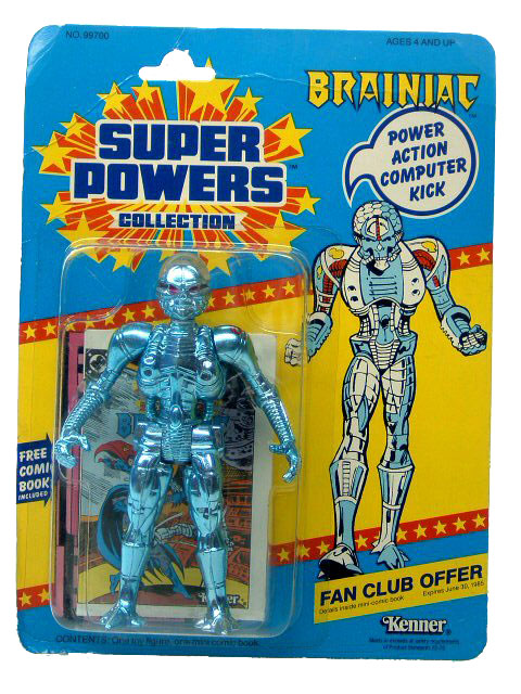 DC Super Powers Brainiac Sealed Mint on Card