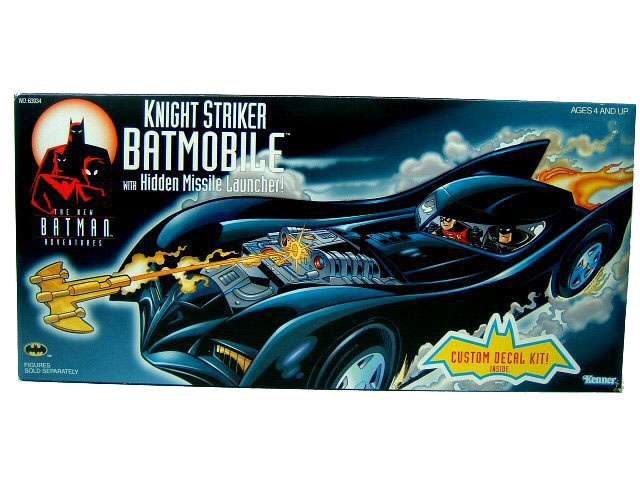 Batman The Animated Series Knight Striker Batmoblie with Box