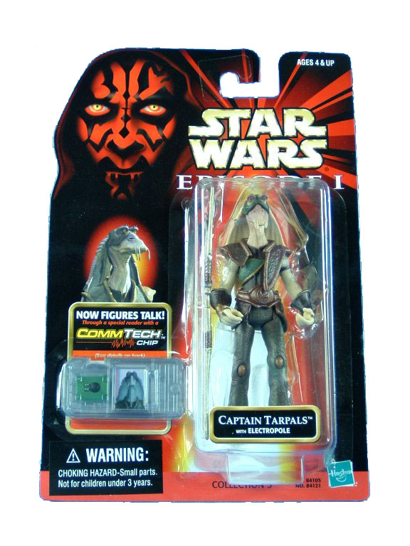 1999 Star Wars Episode I Phantom Menace CAPTAIN TARPALS Sealed