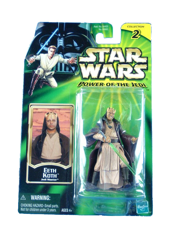 2001 Star Wars Power of the Jedi EETH KOTH JEDI MASTER MOC