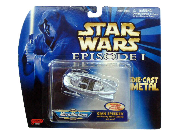 Star Wars Micro Machines Episode I Gian Speeder Die Cast Sealed
