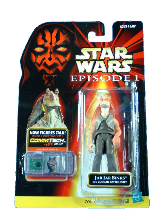 1999 Star Wars Episode I Phantom Menace JAR JAR BINKS Sealed MOC