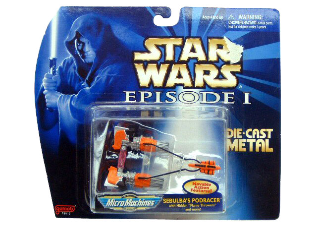 Star Wars Micro Machines Episode I Sebulba's Pod Racer Die Cast