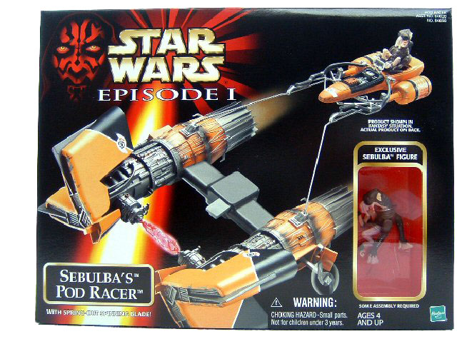 1999 Star Wars Episode I Phantom Menace SEBULBA'S POD RACER MISB