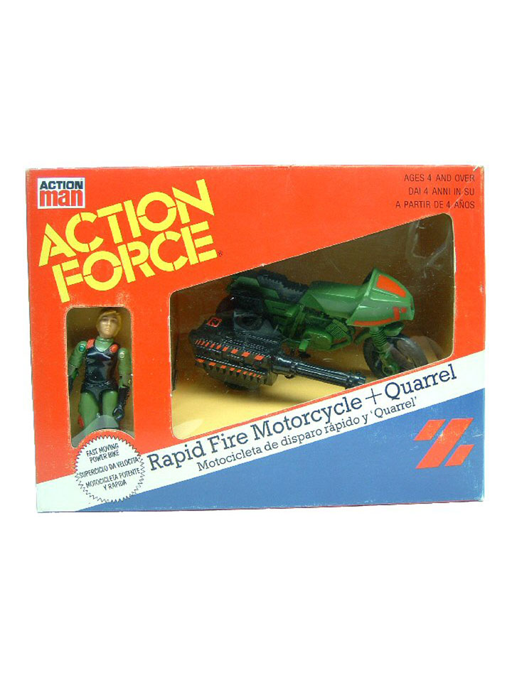 GIJoe United Kingdom Action Z-Force RAM Rapid Fire Motorcycle