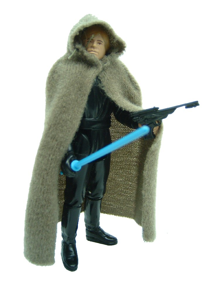 1983 Star Wars LUKE SKYWALKER JEDI KNIGHT BLUE VARIANT Complete