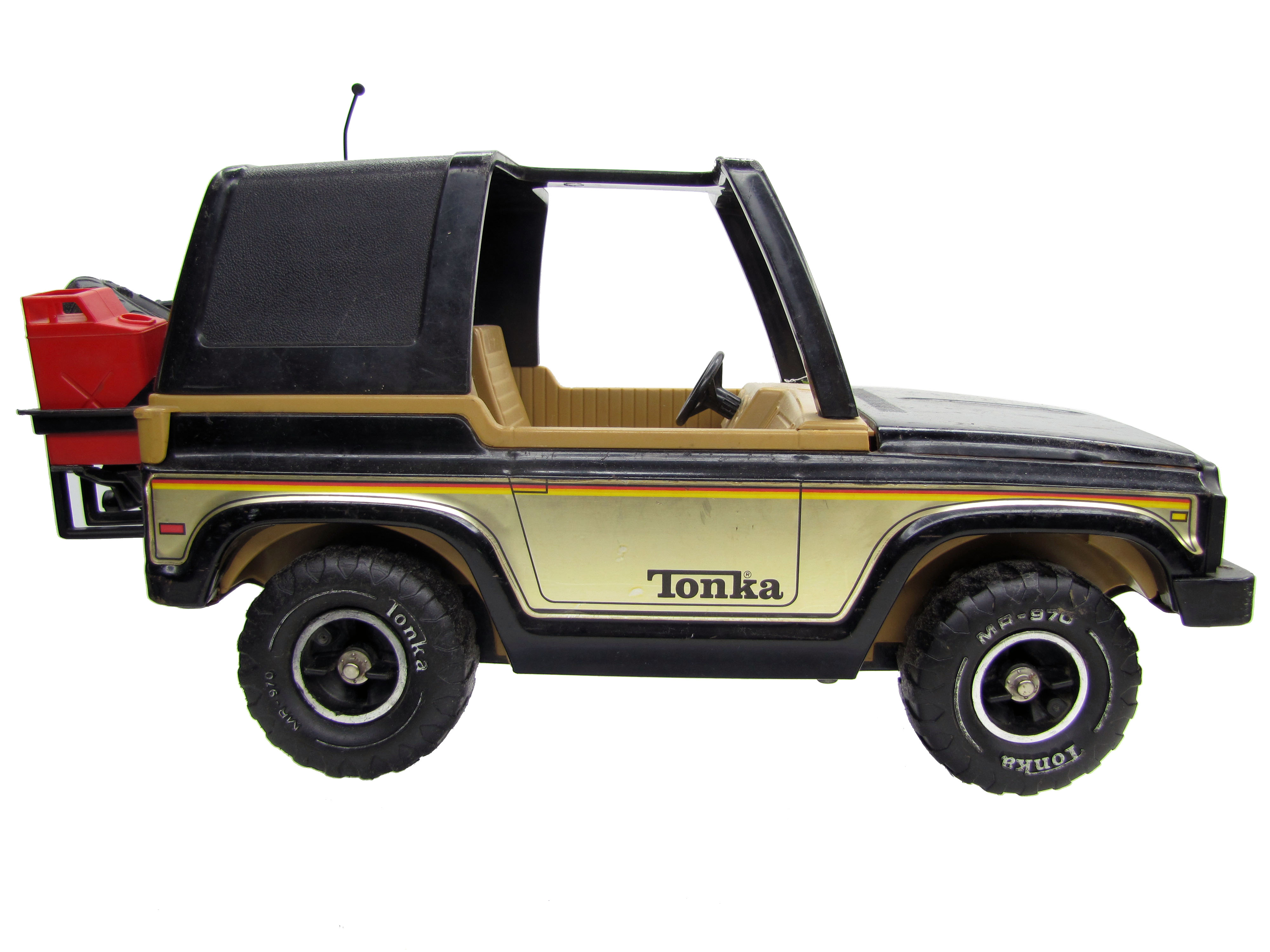1970's Vintage MR-970 Mighty Tonka Black Jeep Bronco Complete