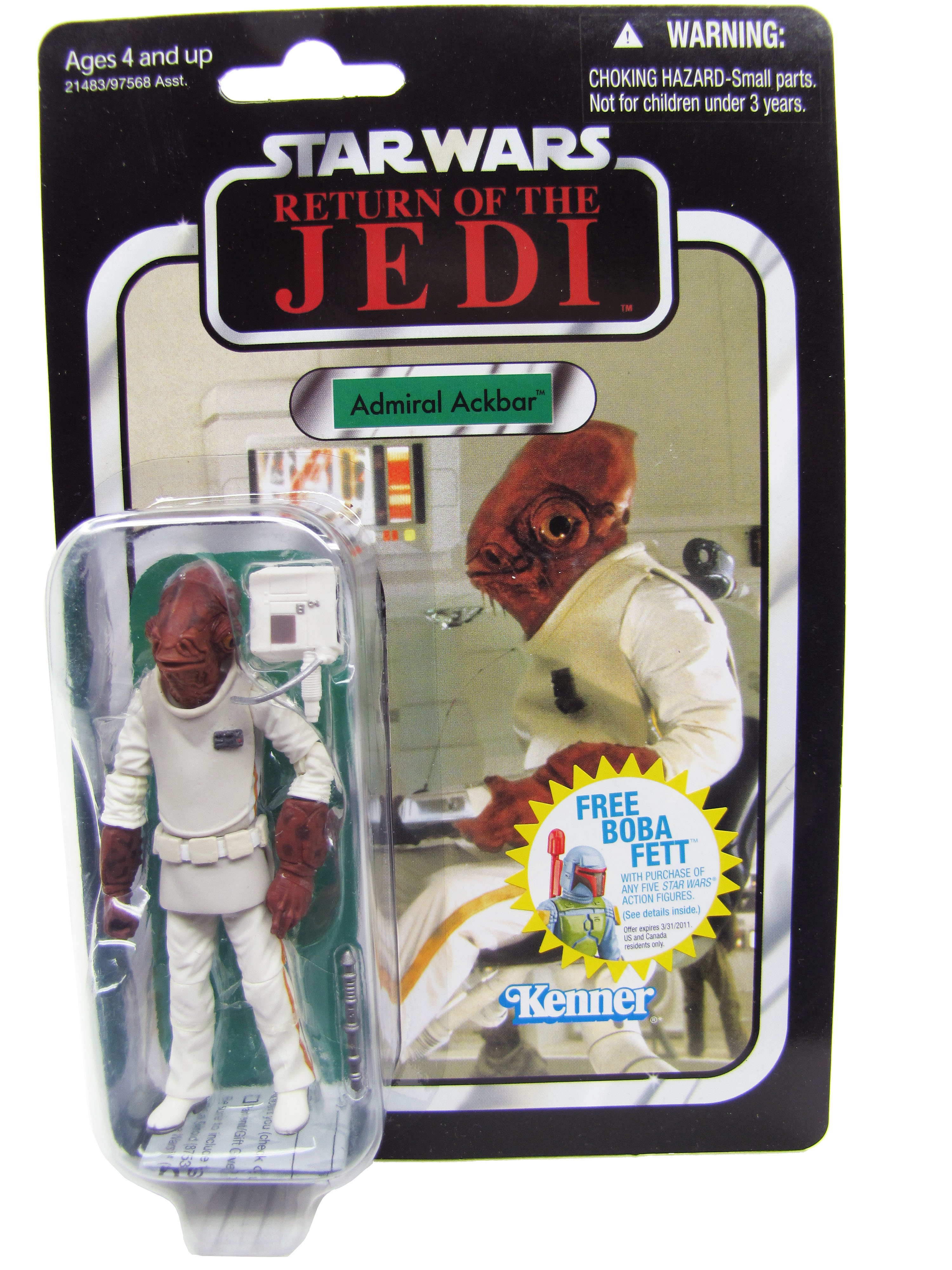 2010 Star Wars Vintage Collection ROTJ ADMIRAL ACKBAR MOC