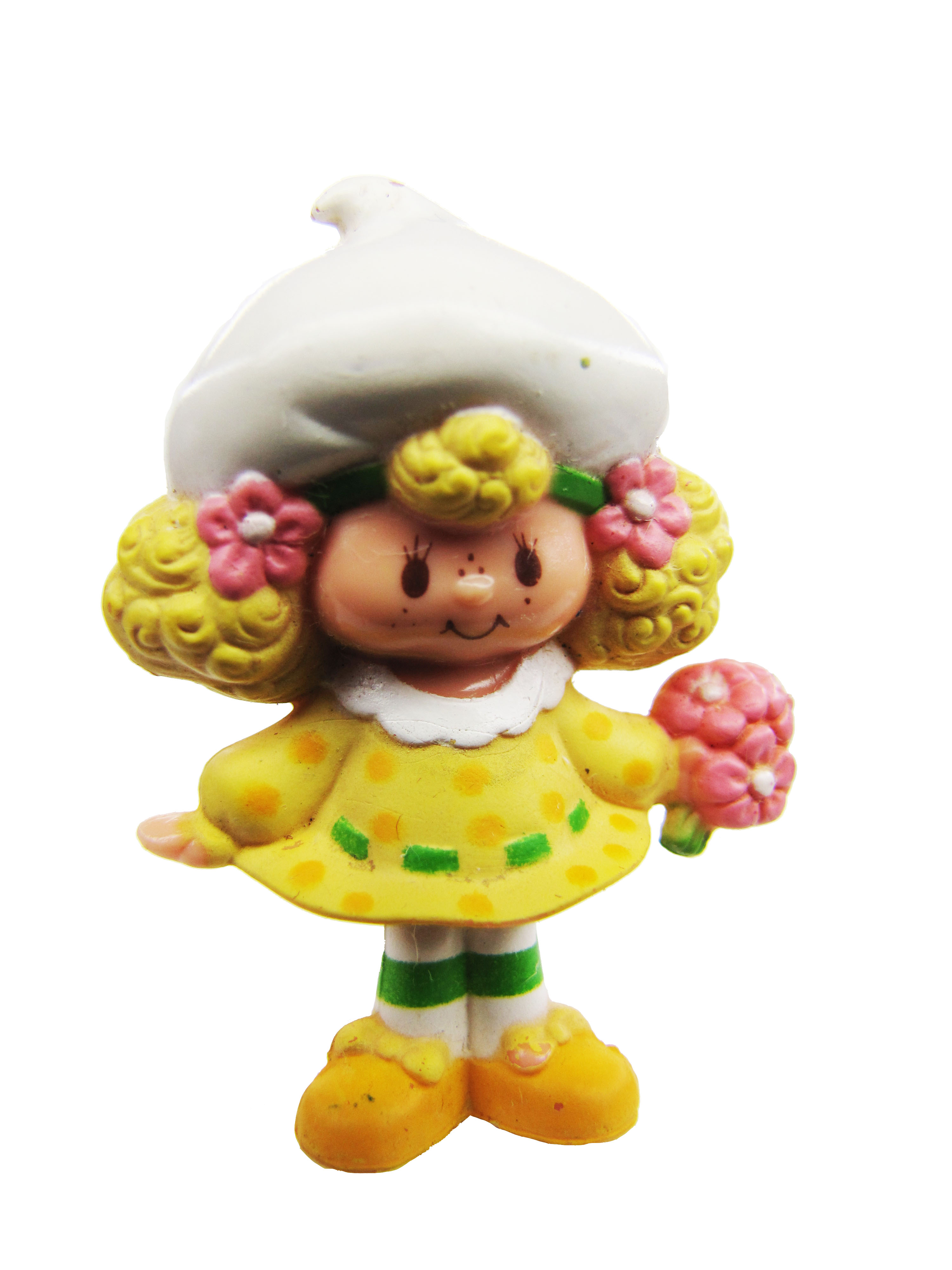 Vintage Strawberry Shortcake Lemon Meringue with Flowers