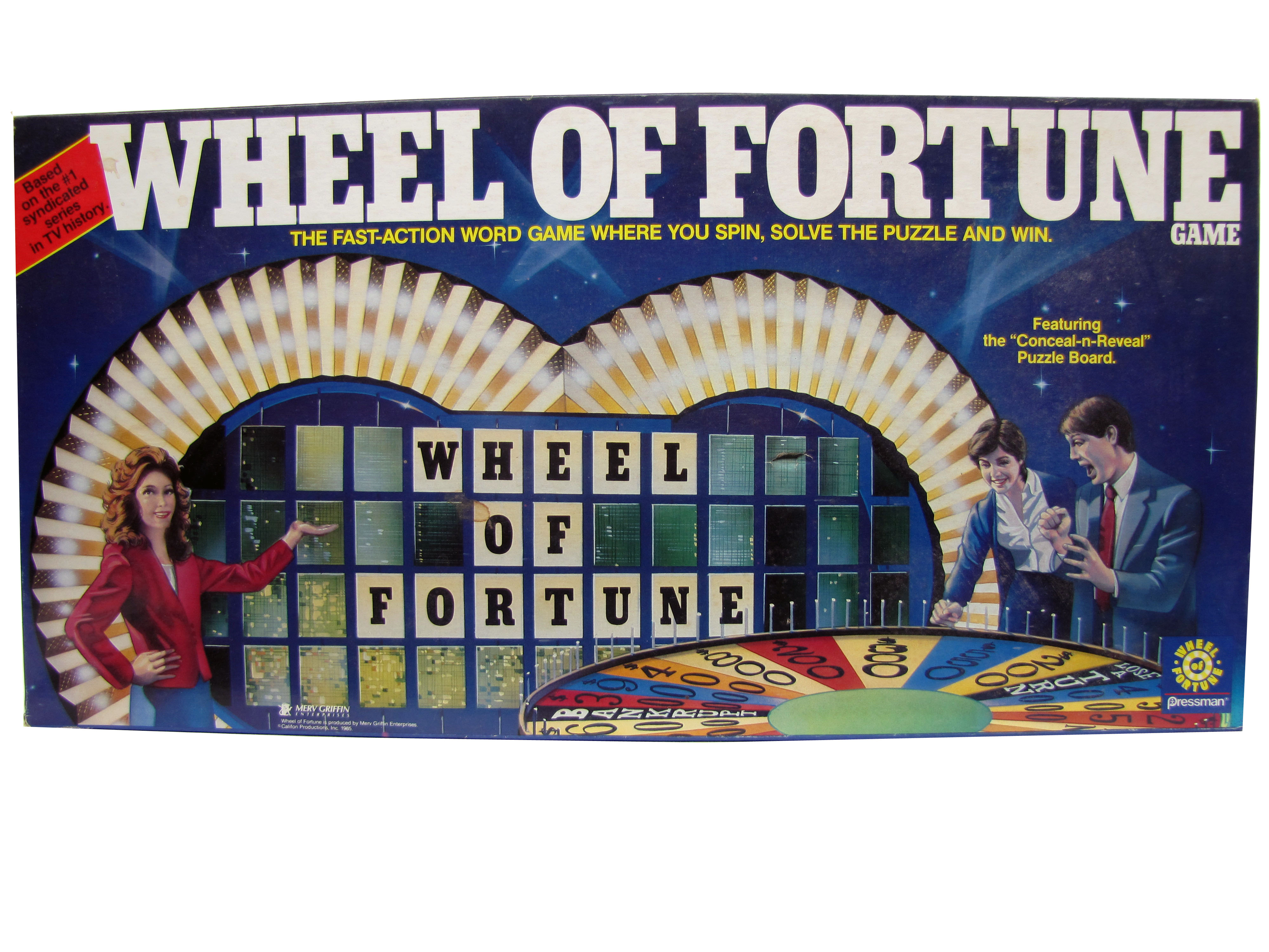 1992 Parker Brother Wheel of Fortune Board Game Complete