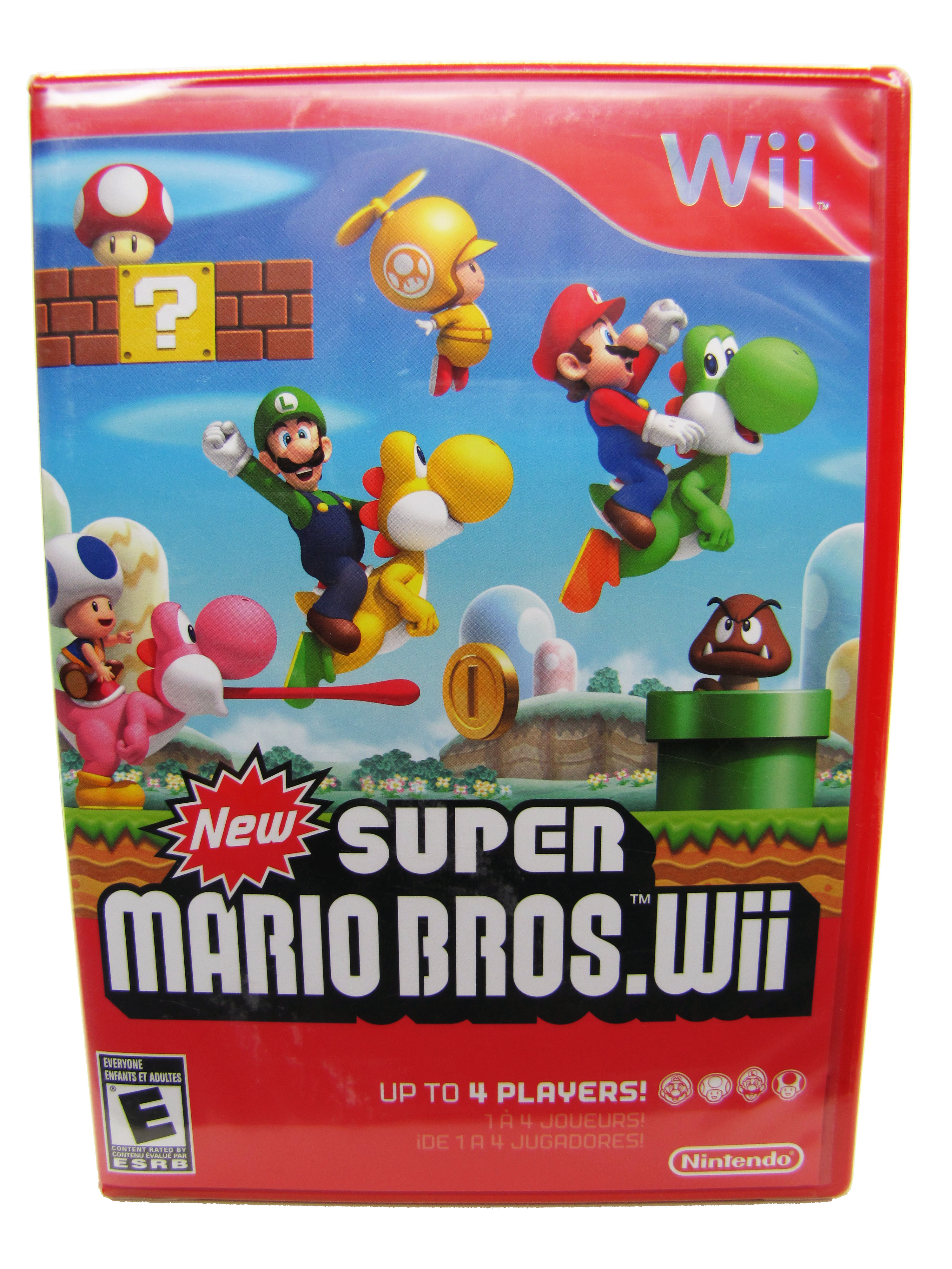 Wii Super Mario Bros. Red Case Sealed NEW