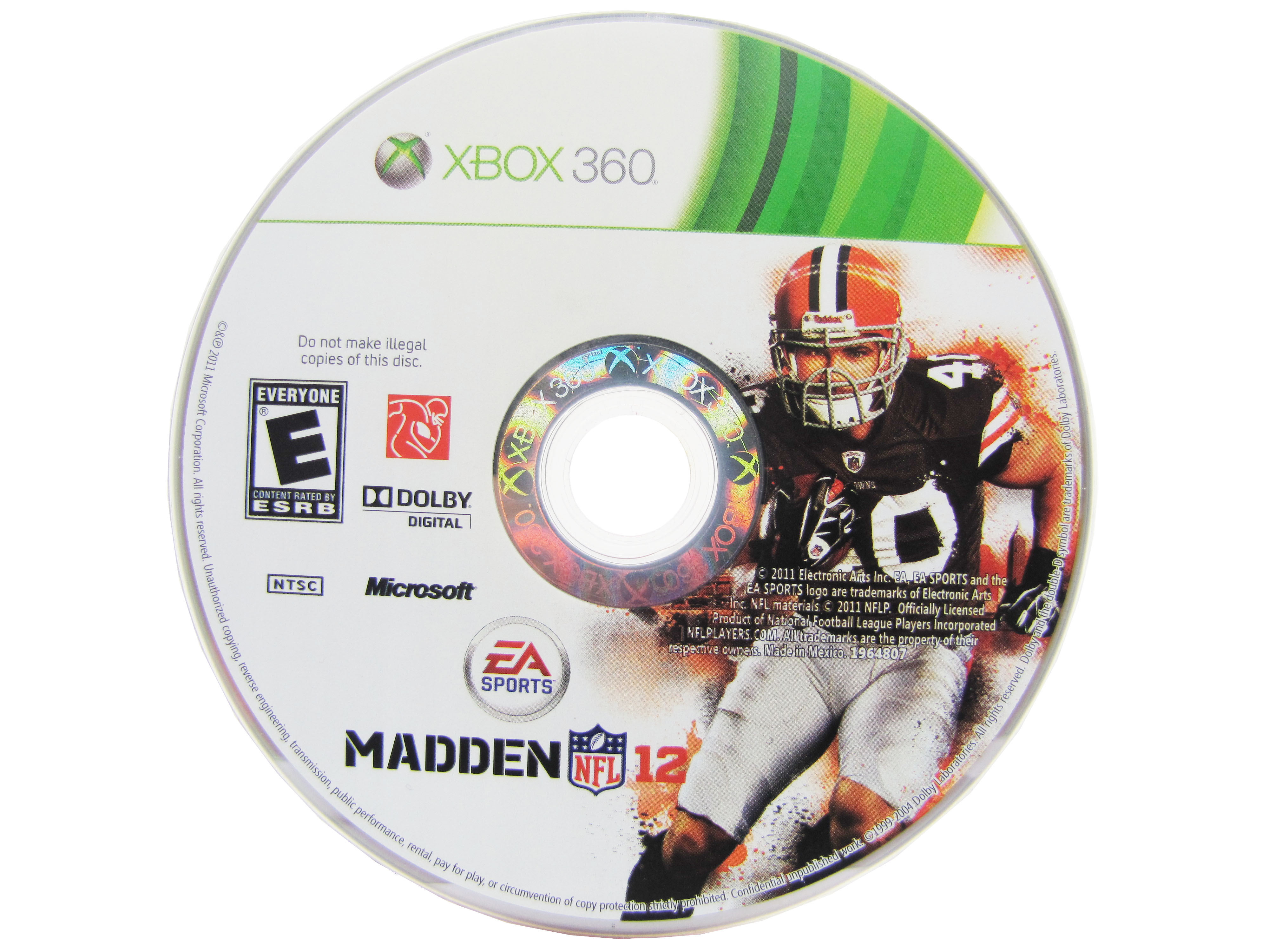 XBOX 360 Madden NFL '12 Disc Only - 2011