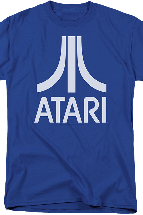 Atari Logo Officially Licensed Royal Blue T-Shirt Medium