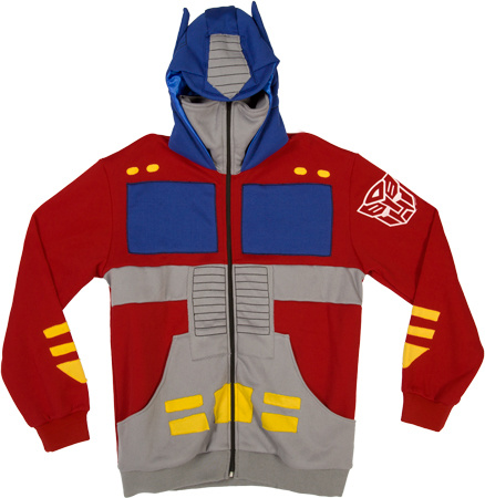 Transformers Optimus Prime Officially Licensed Red Costume Hoodie Small