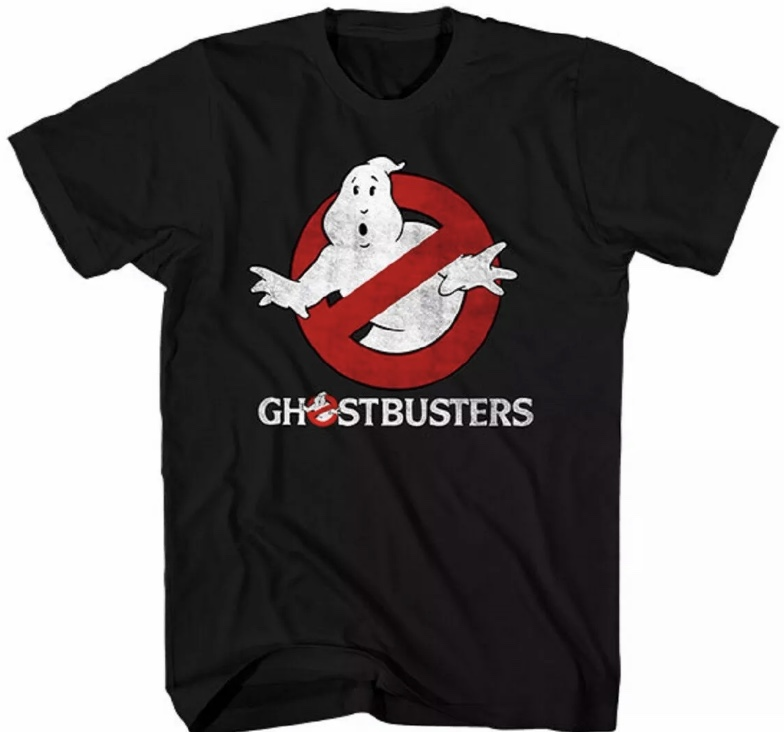 Ghostbusters Officially Licensed Distressed Logo Black T-Shirt X-Large Tall