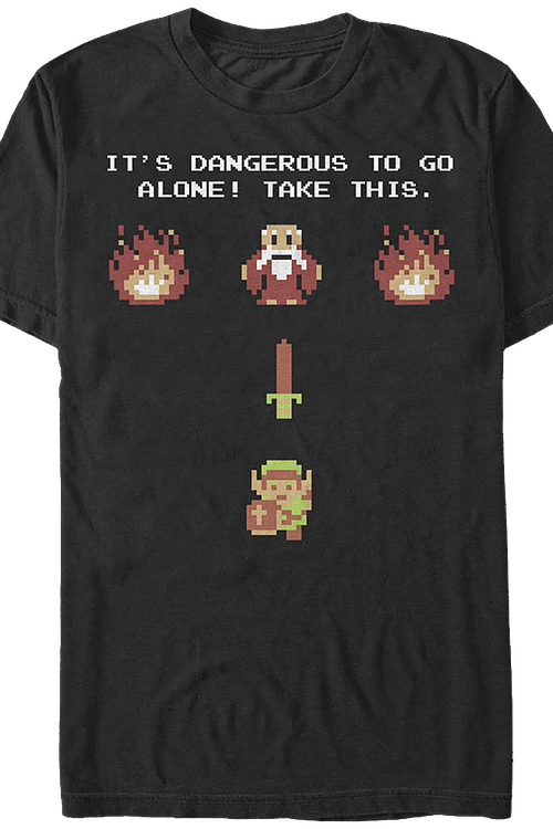Nintendo The Legend Of Zelda It's Dangerous To Go Alone! Take This. T-Shirt XLT