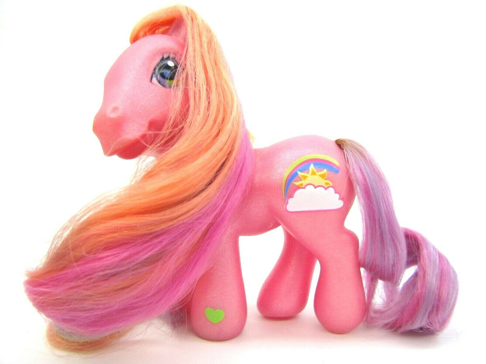 2004 My Little Pony Generation 3 Super Long Hair Pony RAINBOW FLASH Very NICE