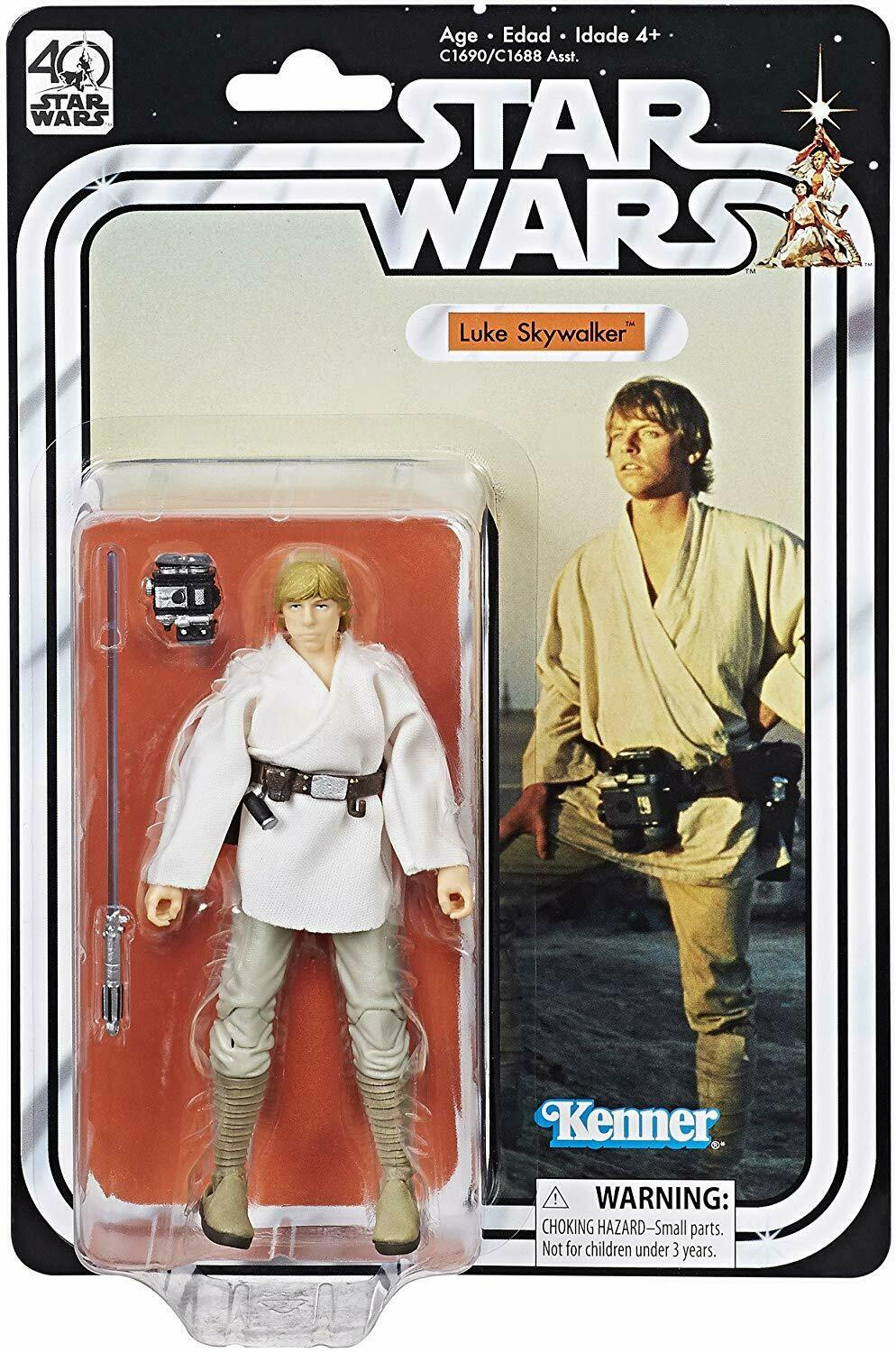 "2017 Star Wars Black Series 6"" 40th Anniversary LUKE SKYWALKER Sealed New"