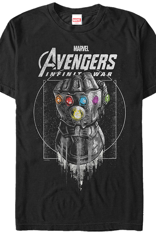 Marvel Avengers: Infinity War Gauntlet Officially Licensed Black T-Shirt Small