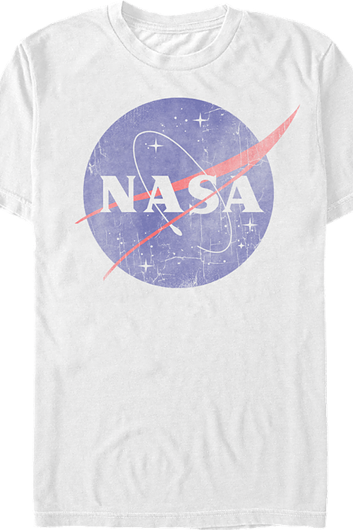 NASA Logo Officially Licensed Adult White T-Shirt Small