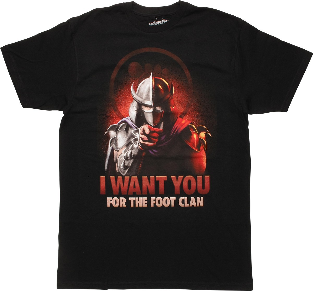 Teenage Mutant Ninja Turtles Shredder I Want You for the Foot Clan T-Shirt Small