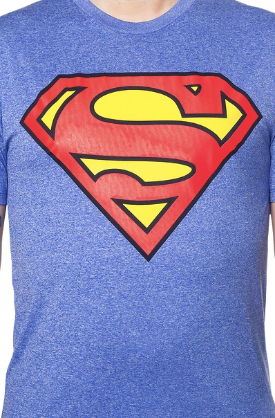 DC Comics Superman Symbol Men's Blue Performance T-Shirt Large